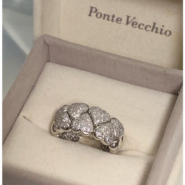 PonteVecchio(ポンテヴェキオ)のポンテヴェキオ ✨ ダイヤ  ハート リング   11号 レディースのアクセサリー(リング(指輪))の商品写真