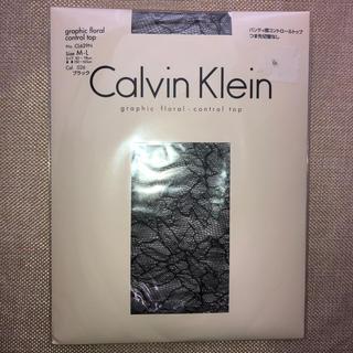 カルバンクライン(Calvin Klein)の花柄ストッキング 黒(タイツ/ストッキング)