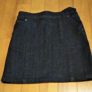 セリーヌ(celine)の美品!CELINE★セリーヌ★ブラックデニムスカート 130cm(スカート)