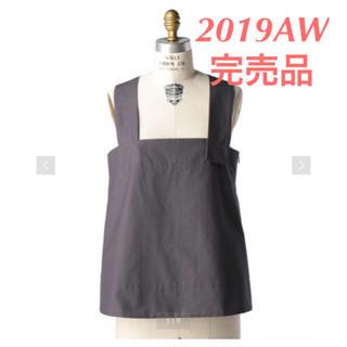 ドゥロワー(Drawer)の2019AW 完売品  Drawer グレーストラップブラウス(Tシャツ(半袖/袖なし))