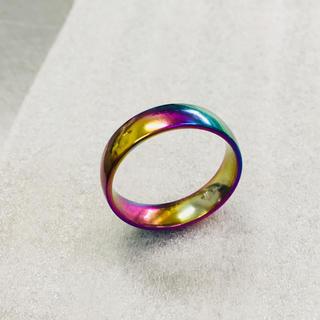 6mmラウンドリング レインボー サージカルステンレス(リング(指輪))