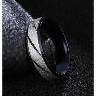 シルバーカラーのフロストトリング (ブラック)(リング(指輪))