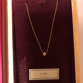d647ef8ce0 アガット(agete)の新品 限定品 agete K18YG ダイヤモンド0.1ctネックレス(ネックレス