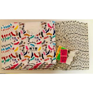 クツシタヤ(靴下屋)の靴下屋 ショップ袋14枚とシール12枚(ショップ袋)