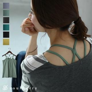 ソルベリー(Solberry)の【新品未使用 3L】soul berry バッククロス ストラップ キャミソール(キャミソール)