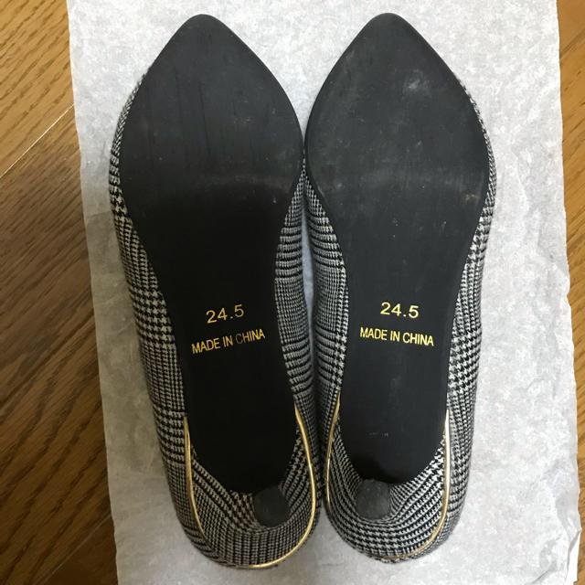 Discoat(ディスコート)のDiscoat パンプス 千鳥柄 24.5㎝ レディースの靴/シューズ(ハイヒール/パンプス)の商品写真