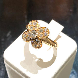 ヴァンクリーフアンドアーペル(Van Cleef & Arpels)の超美品 ヴァンクリ トレフル ダイヤ ♯50 10号 K18 750 正規品(リング(指輪))