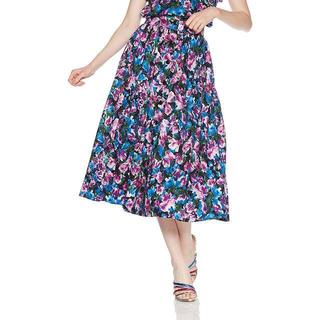 フレイアイディー(FRAY I.D)のフレイ アイディー フロントボタンギャザースカート 花柄 夏(ロングスカート)