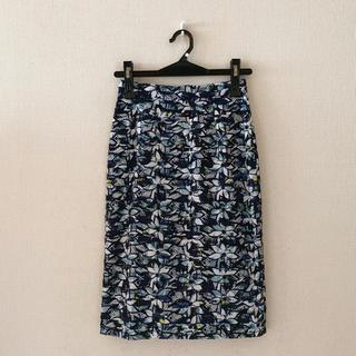 ビッキー(VICKY)のVICKY♡花刺繍の膝丈スカート♡0サイズ(ひざ丈スカート)