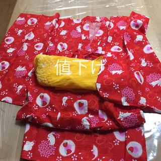 ユニクロ(UNIQLO)の女の子 浴衣 115〜125 兵児帯セット UNIQLO(甚平/浴衣)