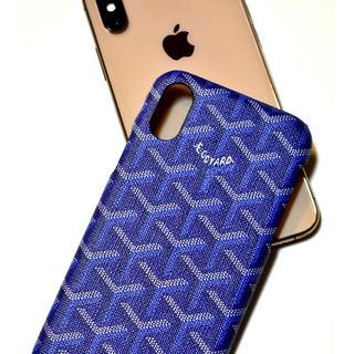 ゴヤール(GOYARD)のiPhone X XS用 ロゴケース  ブルー(iPhoneケース)