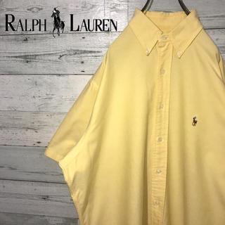 ラルフローレン(Ralph Lauren)の【激レア】ラルフローレン☆刺繍ロゴ ビッグサイズ 半袖 BDシャツ 90s(シャツ)