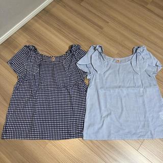 オペーク(OPAQUE)のオペーク 肩リボン ブラウス 二枚セット(シャツ/ブラウス(半袖/袖なし))