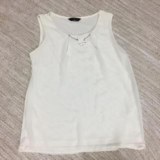 シマムラ(しまむら)のアクセサリー付きタンクトップ(カットソー(半袖/袖なし))