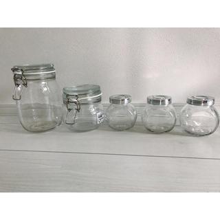 イケア(IKEA)の【ikea】ソーダガラス 保存容器 イケア  ふた付き容器(容器)