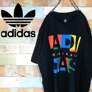 アディダス(adidas)のアディダスオリジナルス☆派手ビッグロゴプリント Tシャツ(Tシャツ/カットソー(半袖/袖なし))