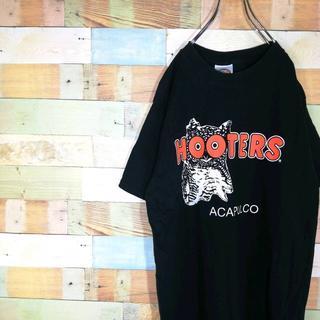 フーターズ☆メキシコ製ビッグロゴ定番 ブラックTシャツ(Tシャツ/カットソー(半袖/袖なし))