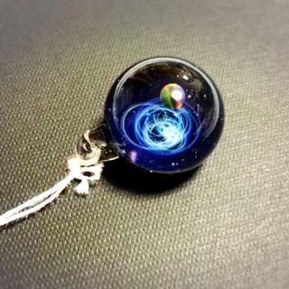 かわ様専用『新品』ブラックオパール入り宇宙ガラス+α(ネックレス)