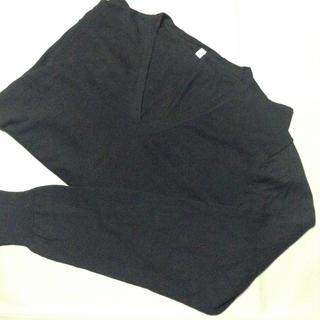 ムジルシリョウヒン(MUJI (無印良品))の無印  コットンシルクVネックセーター  L(ニット/セーター)