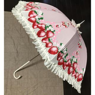 アンジェリックプリティー(Angelic Pretty)のアンジェリック プリティ いちご柄 晴れ雨兼用 傘 日傘 アンブレラ(傘)