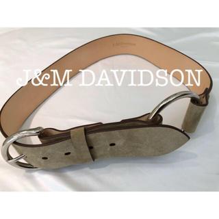 ドゥーズィエムクラス(DEUXIEME CLASSE)のJ&M DAVIDSON スウェード ベルト 本革 バックル FRAMEWORK(ベルト)