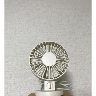 ムジルシリョウヒン(MUJI (無印良品))のUSBデスクファン(低騒音ファン)ホワイト 無印良品(扇風機)