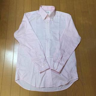 ユニクロ(UNIQLO)のピンク ギンガムチェックシャツ Lサイズ(シャツ)