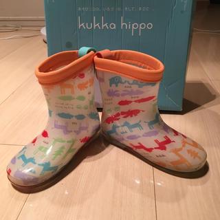 キャトルセゾン(quatre saisons)のレインブーツ キッズ15㎝ kukka hippo(長靴/レインシューズ)