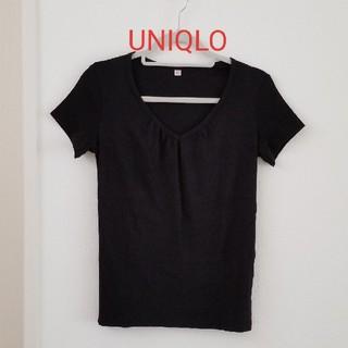 ユニクロ(UNIQLO)のUNIQLO 黒 Tシャツ(Tシャツ(半袖/袖なし))