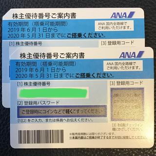 ANA  株主優待 2枚(航空券)