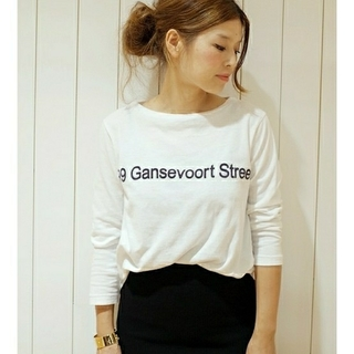 アメリカーナ(AMERICANA)のAMERICANA ボートネックTシャツ☆  (Tシャツ(長袖/七分))