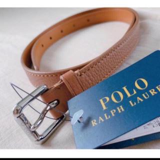 POLO RALPH LAUREN - ポロ ラルフローレン  ペブルド レザー ベルト M