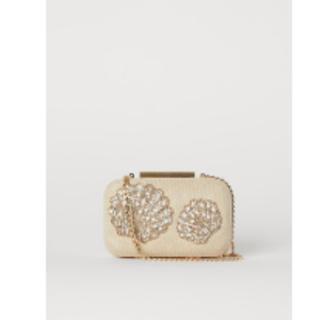 エイチアンドエム(H&M)のH&M ビーズ刺繍クラッチバッグ 新品未使用 完売品(ショルダーバッグ)