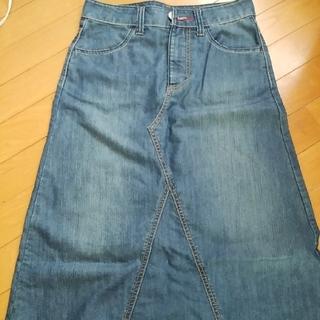 ベルメゾン(ベルメゾン)のデニムロングフレアースカート size61(ロングスカート)