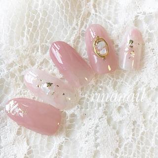クリアローズピンクシェルネイル(つけ爪/ネイルチップ)