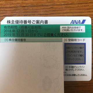 エーエヌエー(ゼンニッポンクウユ)(ANA(全日本空輸))の専用  ANA株主優待券2枚(その他)