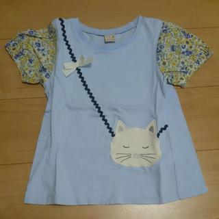 15fa67379254c プティマイン(petit main)のプティマイン ネコポシェット 130(Tシャツ/カットソー)