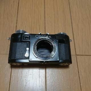 ライカ(LEICA)のコンタックスⅡa 後塗りブラックペイント 実用品(フィルムカメラ)
