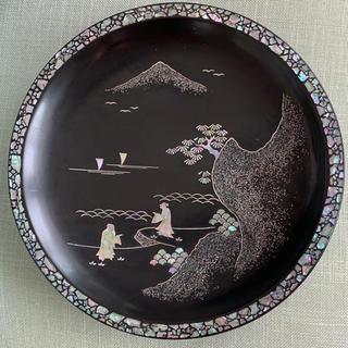 螺鈿 お盆(漆芸)