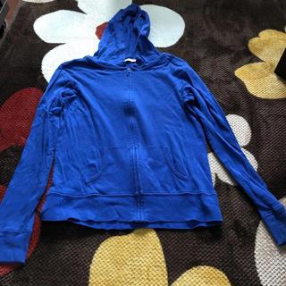 GU - GU UV機能付きパーカー 青