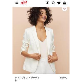 エイチアンドエム(H&M)のH&M リネンブレンドジャケット(テーラードジャケット)