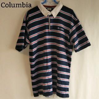コロンビア(Columbia)のコロンビア Columbia ポロシャツ ボーダー 古着 ビッグシルエット(ポロシャツ)