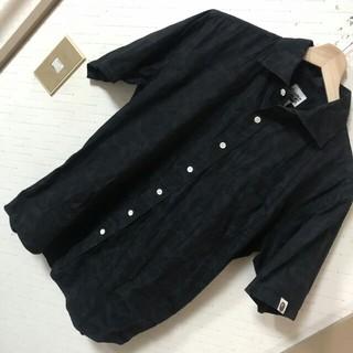 アベイシングエイプ(A BATHING APE)のオールド廃盤モデル  A BATHING APE ブラック カモフラ 半袖シャツ(シャツ)