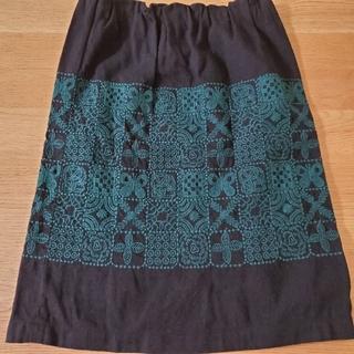 ミナペルホネン(mina perhonen)のミナペルホネンランドリーforest tile 38スカート(ひざ丈スカート)