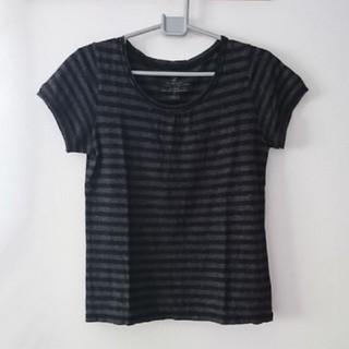 イッカ(ikka)のikka イッカ ボーダー Tシャツ L(Tシャツ(半袖/袖なし))