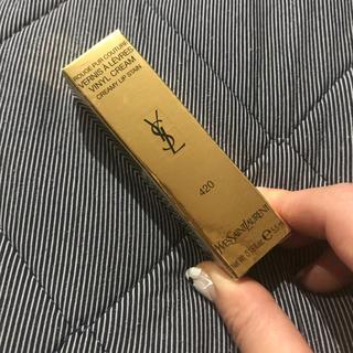 イヴサンローランボーテ(Yves Saint Laurent Beaute)のYSL ピュールクチュールヴィニルクリーム 420(口紅)