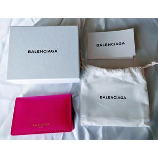 バレンシアガ(Balenciaga)のバレンシアガ 名刺入れ カードケース レディース メンズ スナップ式 ピンク(名刺入れ/定期入れ)