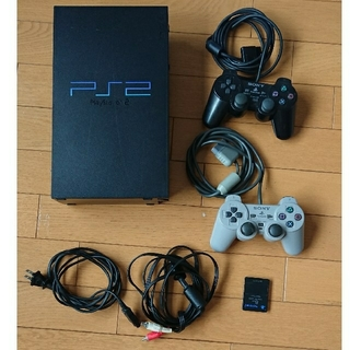 プレイステーション2(PlayStation2)の【PS2】プレイステーション2 本体+付属品(家庭用ゲーム本体)