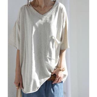 アンティカ(antiqua)のantiqua VネックビッグシルエットT(Tシャツ(半袖/袖なし))