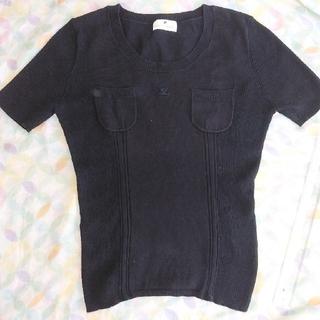 クレージュ(Courreges)のクレージュ 黒 半袖 セーター(ニット/セーター)